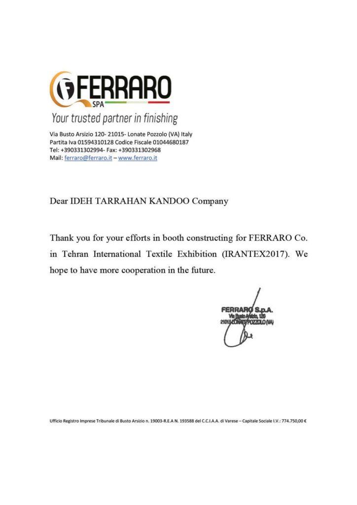 FERRARO KANDOO 1 724x1024 - تقدیرنامه ها